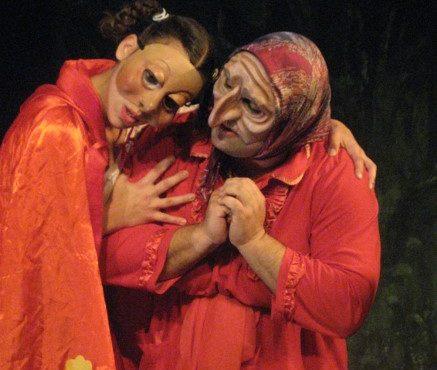 שלומי מלול ואורית פרס בכיפה אדומה בעקבות המרטיטון בימוי חיים עבוד